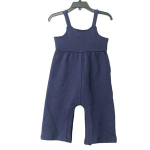 Hanna Andersson Easy Romper Navy Organic Cotton